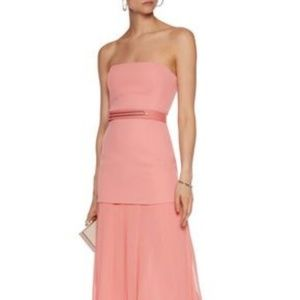 Halston Heritage Crepe and Georgette Gown Size 12